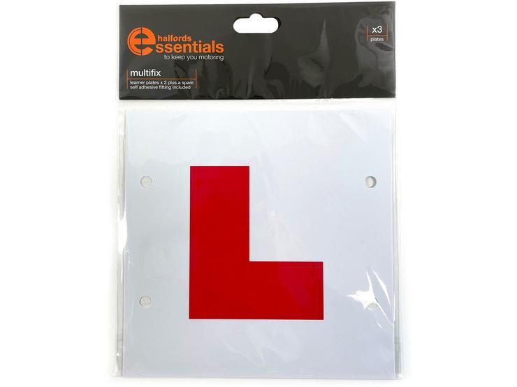 Halfords Multifix Learner Driver Plates x3